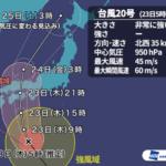 台風20号2018大阪の最新進路予想や鉄道路線・電車運行状況を調べてみた!