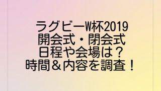 ラグビーW杯2019開会式・閉会式の日程や会場は?時間&内容を調査!