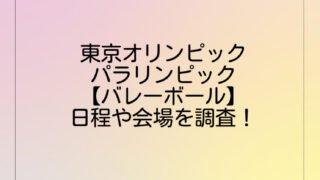 東京オリンピック・パラリンピック【バレーボール】日程や会場を調査!
