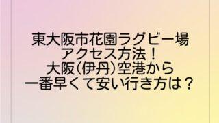 東大阪市花園ラグビー場へのアクセス方法!大阪(伊丹)空港から一番早くて安い行き方は?
